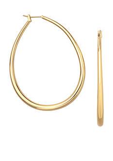 Belk Silverworks 24kt Over Fine Silver-Plated 35-mm. Oval Graduated Hoop Earrings