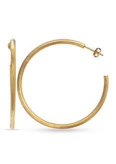 Belk Silverworks 24k Gold over Fine Silver Plate 60-mm. Hoop Earrings