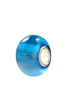 Belk Silverworks Iridescent Blue Glass Originality Bead
