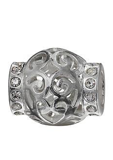 Belk Silverworks Round Open Filigree Crystal Originality Bead