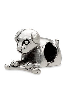 Belk Silverworks Laying Dog With Bone Originality Bead