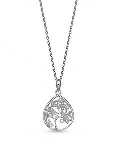 Belk Silverworks Cubic Zirconia Family Tree Necklace