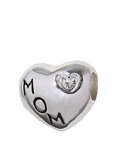 Belk Silverworks MOM Heart Crystal Originality Bead