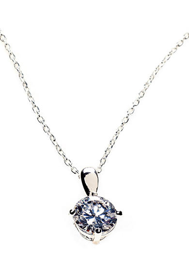 Belk Silverworks Sterling Silver Round Cubic Zirconia Pendant on 18-in. Chain