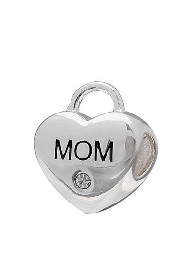 Belk Silverworks Sterling Silver Mom Crystal Heart Lock Originality Bead
