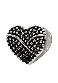 Belk Silverworks Oxidized Beaded Heart Originality Bead