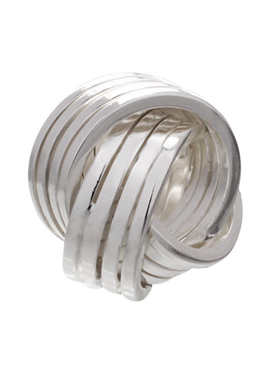 Belk Silverworks Sterling Silver Striped Love Knot Originality Bead
