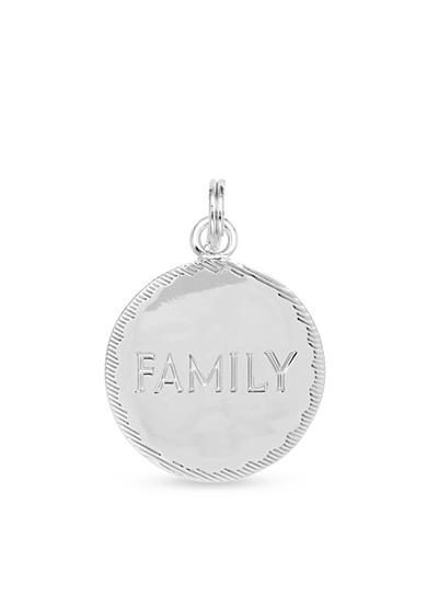 Belk Silverworks Fine Silver-Plated Charm Bar 'Family' Disc Charm
