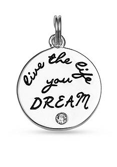Belk Silverworks Charm Bar 'Live The Life You Dream' Disc Charm