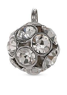 Belk Silverworks Silver-Tone Charm Bar Crystal Ball Charm