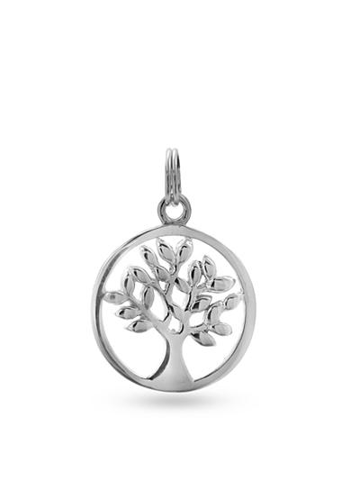 Belk Silverworks Fine Silver Plated Charm Bar Family Tree Disc Charm