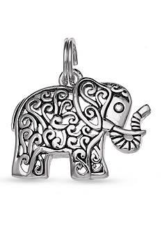 Belk Silverworks Fine Silver Plate Oxidized Elephant Charm
