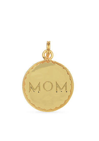 Belk Silverworks Gold-Plated Charm Bar 'Mom' Disc Charm