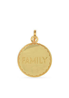 Belk Silverworks Gold-Plated Charm Bar 'Family' Disc Charm
