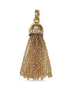 Belk Silverworks 24K Gold-Plating Over Fine Silver Chain Tassel Charm