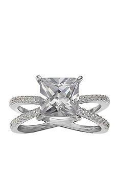 Belk Silverworks Sterling Silver Princess Engagement Ring