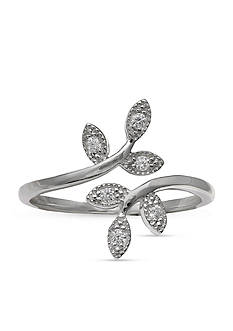 Belk Silverworks Sterling Silver Vine Bypass Ring - Size 7