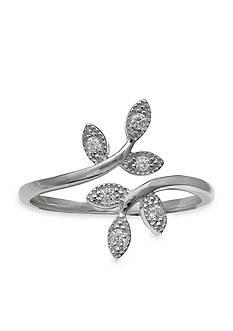Belk Silverworks Sterling Silver Vine Bypass Ring - Size 8