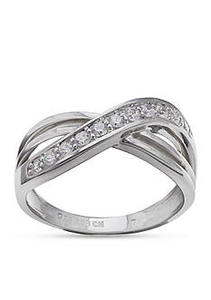 Belk Silverworks Silver-Tone Pave Sparkle Ring