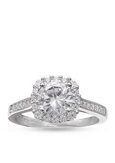 Belk Silverworks Silver-Tone Cz Round Ring