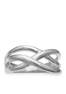 Belk Silverworks Triple Crossover Ring