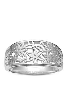 Belk Silverworks Flower Filigree Ring