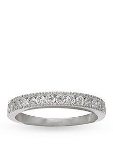 Belk Silverworks Fine Silver Plated Pave Cubic Zirconia Band