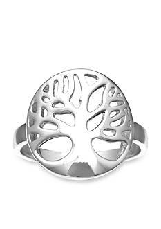 Belk Silverworks Feminine Silver-Tone Family Tree Ring