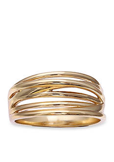 Belk Silverworks Gold-Plated Brass Crossover Ring