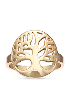 Belk Silverworks Feminine Gold-Tone Family Tree Ring