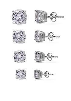 Belk Silverworks Sterling Silver Stud Earring Set