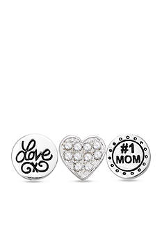 Belk Silverworks Charming Lockets My Mom Is #1 Set of Three Charms