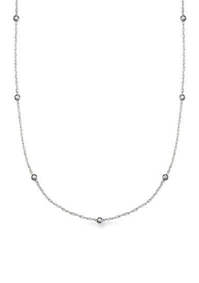 Belk Silverworks Sterling Silver Polished Singapore Beaded 24-in. Chain Necklace