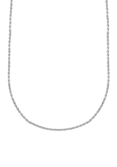 Belk Silverworks Diamond Cut Rope Chain Necklace