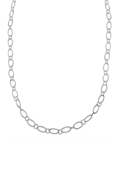 Belk Silverworks Fine Silver Plated Long Oval Textured Chain Necklace
