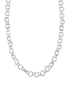 Belk Silverworks Fine Silver Plated Interlocking Link Chain Necklace