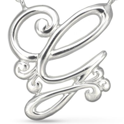 Jewelry & Watches: Belk Silverworks Fashion Jewelry: G Belk Silverworks Fine Silver Plated Monogram Initial Pendant Necklace