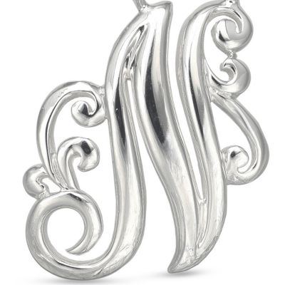 Jewelry & Watches: Belk Silverworks Fashion Jewelry: N Belk Silverworks Fine Silver Plated Monogram Initial Pendant Necklace