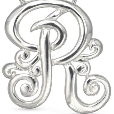 Jewelry & Watches: Belk Silverworks Fashion Jewelry: R Belk Silverworks Fine Silver Plated Monogram Initial Pendant Necklace