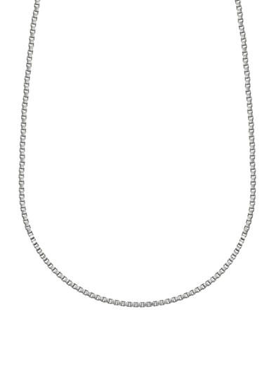 Belk Silverworks Charm Bar Stainless Steel Box Chain Necklace