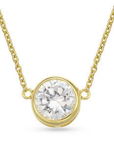 Belk Silverworks 24K Gold Over Fine Silver Plated Bezel Necklace