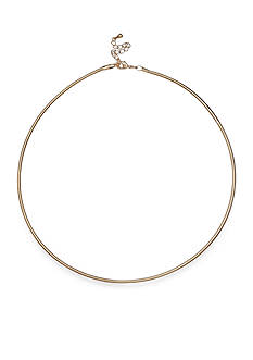 Belk Silverworks Feminine Gold-Plated Sparkle Necklace