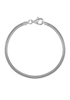 Belk Silverworks Milano Silver 7.5-in. Snake Chain Originality Bead Bracelet
