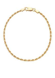 Belk Silverworks 24k Gold Over Bonded Silver Bracelet