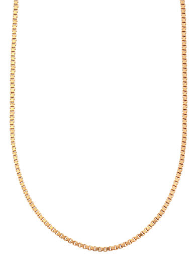 Belk Silverworks 24kt Gold Over Milano Silver 20-Inch Box Chain