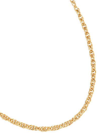 Belk Silverworks 24kt Gold Over Milano Silver 24 Inch Singapore Chain