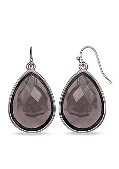 Jules B Silver-Tone Bauble Bazaar Gray Teardrop Earrings