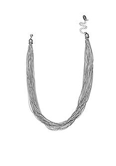 Jules B Silver Tone Snake Charmer Multi Strand Snake Chain Necklace