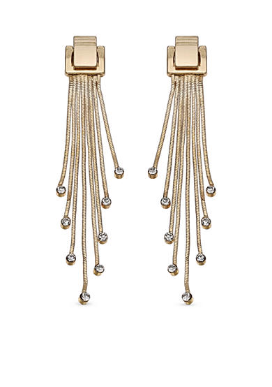 Jules B Gold-Tone Snake Charmer Linear Earrings