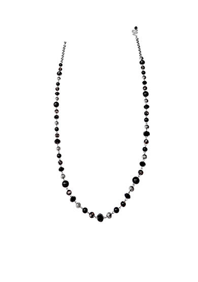 Jules B Silver-Tone Bead Long Necklace